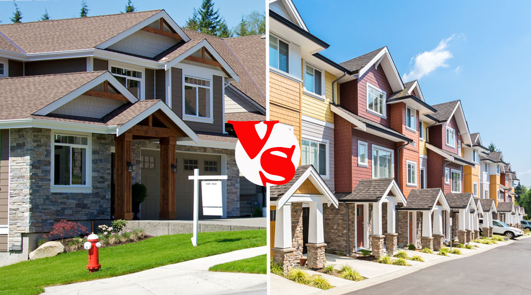 Townhouse vs single family home for What is family home